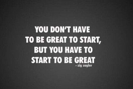 You Don&#8217;t Have To Be Great To Start